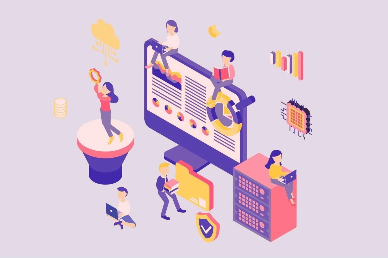 Ilustração de SEO e otimização de sites | Como atrair mais visitantes para o meu novo site? - Superbiz