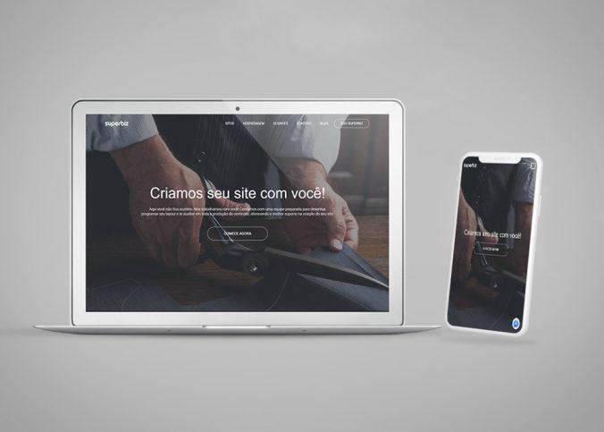 Mockup do site Superbiz em desktop e celular | O que é um site responsivo? - Superbiz