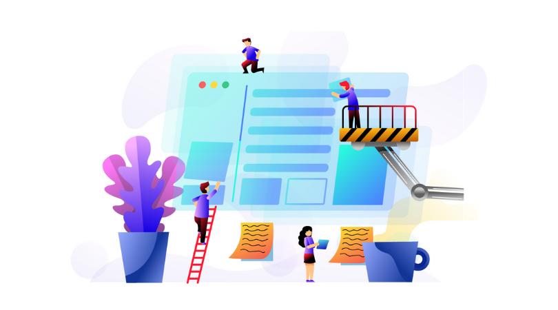 Ilustração do processo de criação do layout de um site | Blog Superbiz